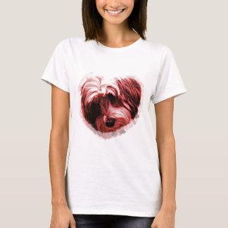 チベタンテリアのハート Tシャツ