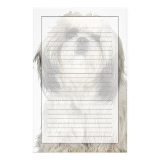 チベタンテリアの子犬のポートレート 便箋