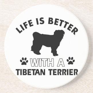 チベタンテリア犬の品種デザイン コースター