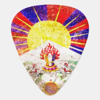 チベットのグランジなギターピックの旗 ギターピック