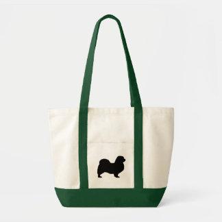 チベットのスパニエル犬のシルエット トートバッグ