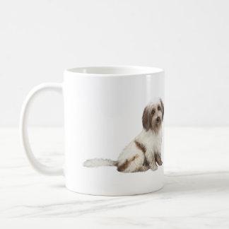 チベットのスパニエル犬(茶色白の) コーヒーマグカップ