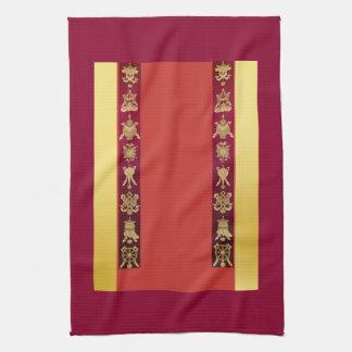 チベットのチベットの幸運な記号 キッチンタオル