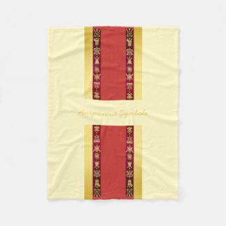 チベットのチベットの幸運な記号 フリースブランケット