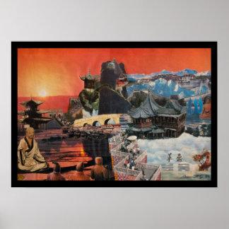 チベットのモンタージュ1984年 ポスター