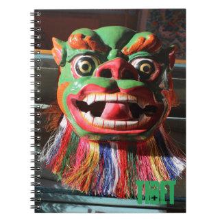 チベットの仏教のフェスティバルのマスク ノートブック