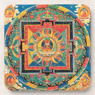 チベットの仏教の曼荼羅のコースター コースター