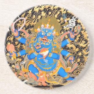 チベットの仏教の芸術のプリント コースター