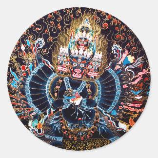 チベットの仏教の芸術(Chemckok Heruka) ラウンドシール