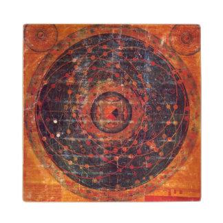チベットの天文Thangka ウッドコースター