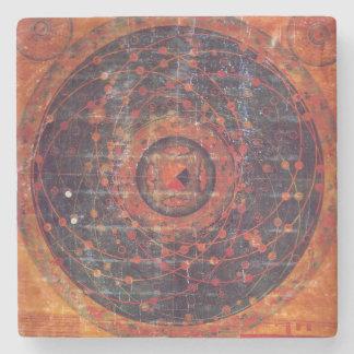 チベットの天文Thangka ストーンコースター