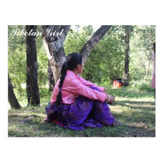 チベットの女の子 ポストカード