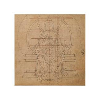 チベットの対称 ウッドウォールアート