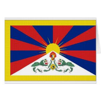 チベットの旗 カード
