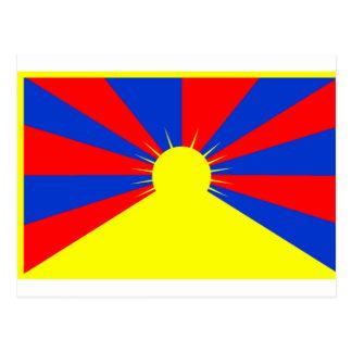 チベットの旗 ポストカード