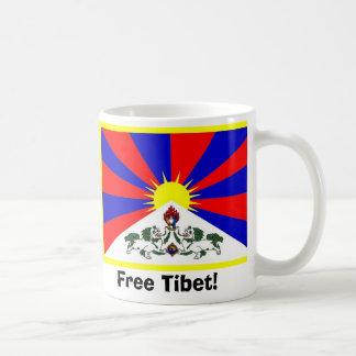 チベットの旗-自由なチベット! コーヒーマグカップ