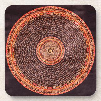 チベットの曼荼羅のコースター コースター