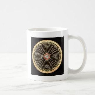 チベットの曼荼羅の芸術(金ゴールド及び黒) コーヒーマグカップ