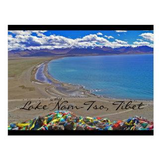 チベットの湖Nam Tso ポストカード