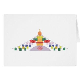 チベットの祈りの言葉の旗 カード