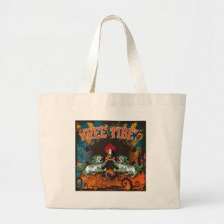 チベットの自由なグランジな芸術 ラージトートバッグ