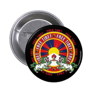 チベットの自由な円形のロゴ 5.7CM 丸型バッジ