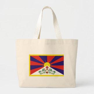 チベットの自由な旗 ラージトートバッグ