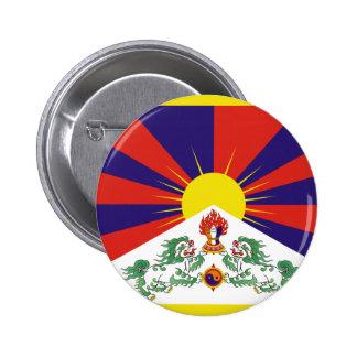チベットの自由な旗 5.7CM 丸型バッジ