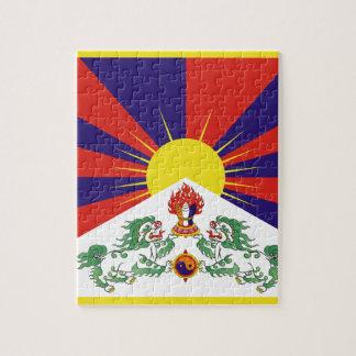チベットの自由な旗- Peu Rangzenのབོདの་のརངの་のབཙནの་ ジグソーパズル