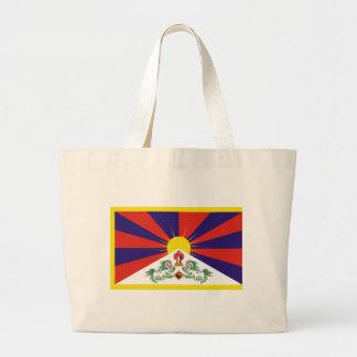 チベットの自由な旗- Peu Rangzenのབོདの་のརངの་のབཙནの་ ラージトートバッグ