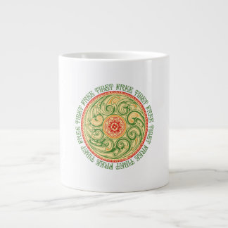 チベットの自由な曼荼羅 ジャンボコーヒーマグカップ