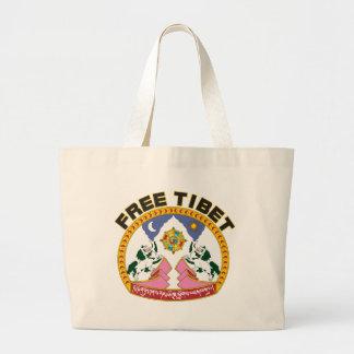 チベットの自由な紋章 ラージトートバッグ