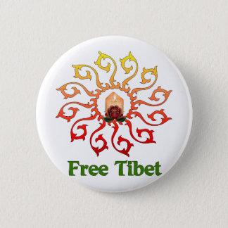 チベットの自由な蝋燭 5.7CM 丸型バッジ