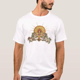 チベットの雪のライオン Tシャツ