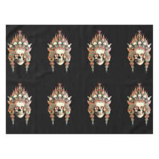 チベットの頭飾りが付いているスカル テーブルクロス