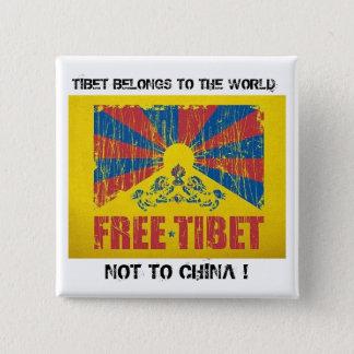 チベットは世界ボタンに属します 缶バッジ