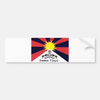 チベットを奴隷にして下さい バンパーステッカー