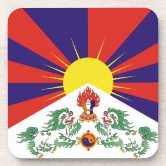 チベット人の自由なチベットの旗- Peu Rangzenのབོདの་のརངの་のབཙནの་ コースター