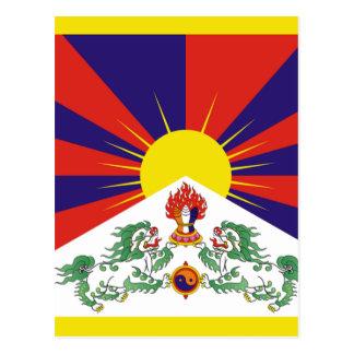 チベット人の自由なチベットの旗- Peu Rangzenのབོདの་のརངの་のབཙནの་ ポストカード