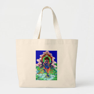 チベット仏教仏教のThangka Ucchusma ラージトートバッグ