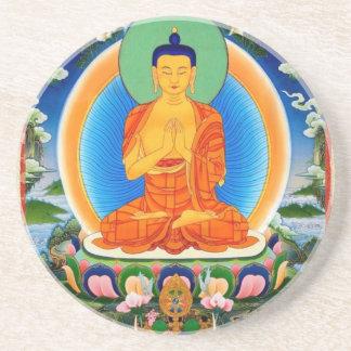 チベット語Thangka Prabhutaratna仏 コースター