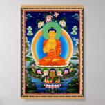 チベット語Thangka Prabhutaratna仏 ポスター