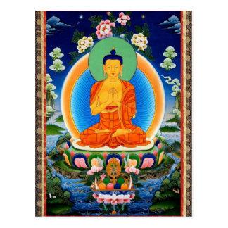 チベット語Thangka Prabhutaratna仏 ポストカード