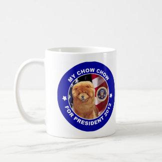チャウチャウの大統領2012キャンペーンのマグ コーヒーマグカップ