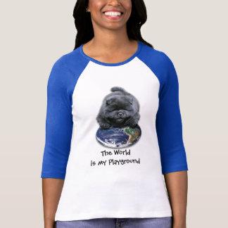 チャウチャウの子犬のおもしろいのTシャツ Tシャツ