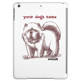 チャウチャウ犬の図解入りの、写真付きのな漫画のスタイル iPad AIRケース
