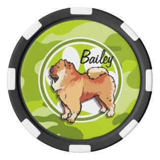 チャウチャウ; 若草色の迷彩柄、カムフラージュ ポーカーチップ
