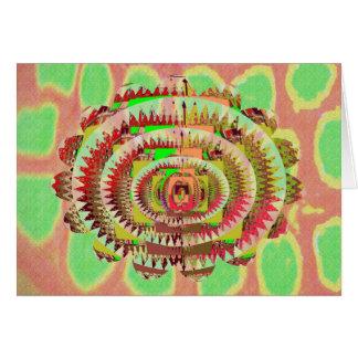 チャクラのスタイルのヒマワリ カード
