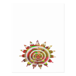 チャクラのスタイルのヒマワリ ポストカード