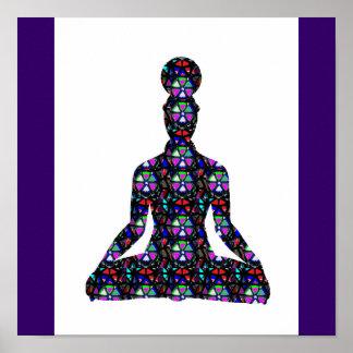 チャクラのヨガの黙想の図表のカルマ愛NVN638 ポスター